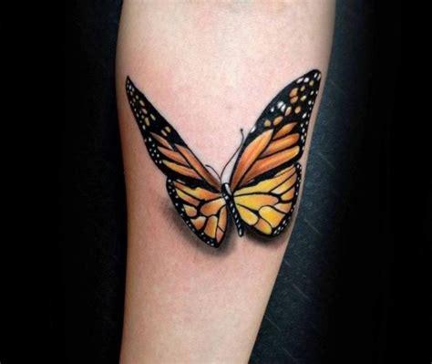 tattoo 3d femme monarchfalter tattoo mit schatten und 3d look tattoo