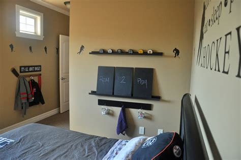 hockey bedroom decor hockey themed boys room sports transitional kids