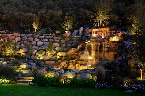 Pond Lighting by Water Feature Pond And Pool Lighting Ideas And Pictures