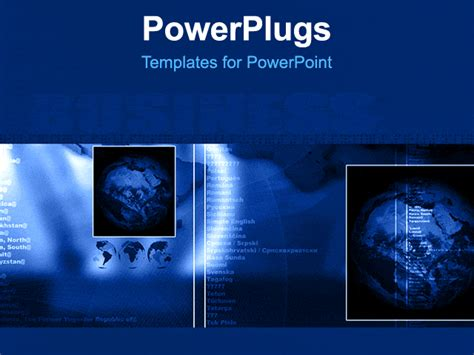 free animated business powerpoint templates business layout with world global and abstract background
