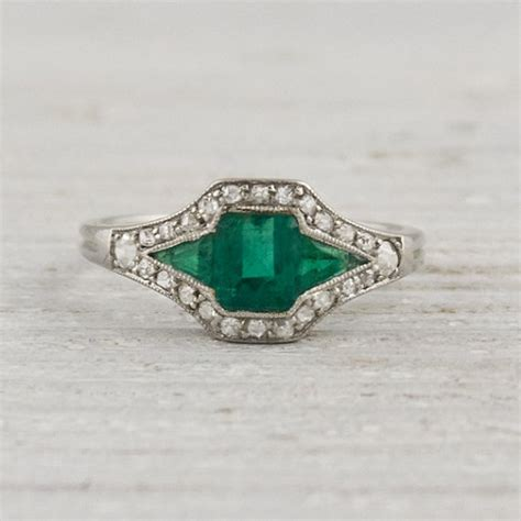 vintage and emerald engagement ring