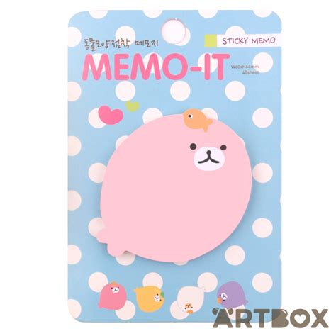 Notes Tempel Mini Garden Memo It Post Its buy kawaii memo it animal sticky notes pink seal at artbox