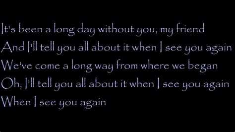 charlie puth when i see you again lyrics lyrics wiz khalifa see you again ft charlie puth