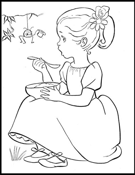 little miss muffet coloring pages coloring home