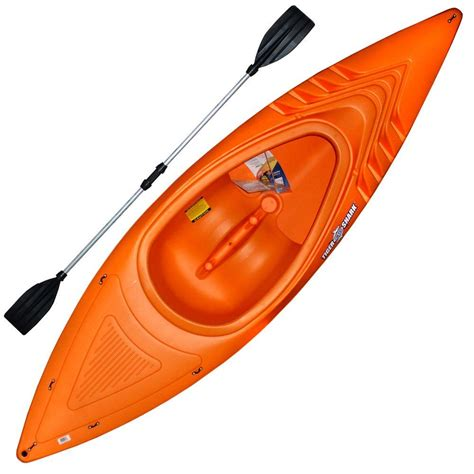 orange shark emsco 9 ft 250 lb orange shark kayak with deluxe sport