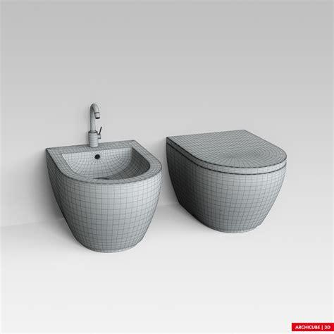 bidet wc toilette toilet wc bidet 3d model max obj fbx cgtrader
