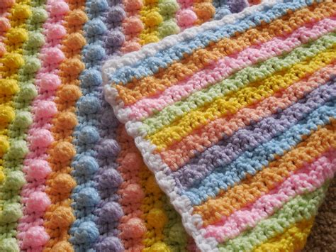 Handmade Pattern - hooked on handmade popcorn stitch blanket