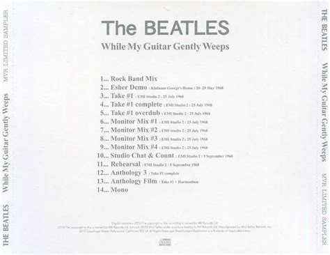 Valley Records The Beatles While My Guitar Gently Weeps 2010 Mid Valley Records Avaxhome