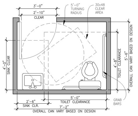bathroom layout toilet clearance ada compliance overview dalkita