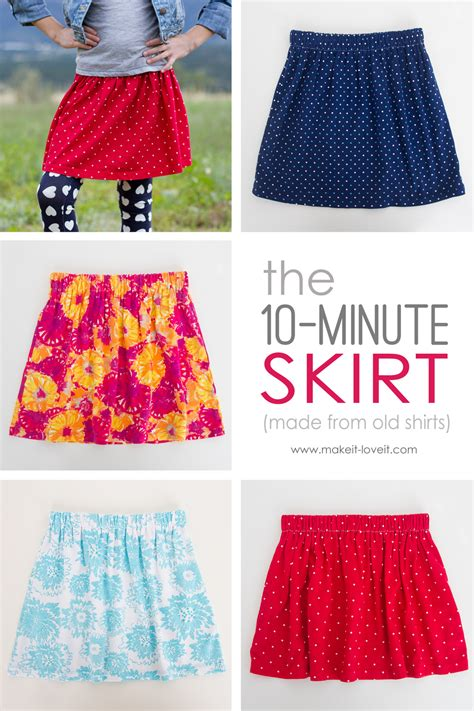 pattern for 2 year old skirt the 10 minute skirt re purposing old shirts into skirts