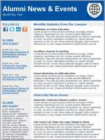 Education Email Templates Benchmark Email Alumni Email Template