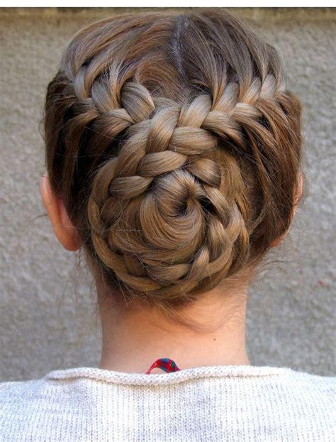 Bun Braids Hairstyles by Best 25 Braided Bun Hairstyles Ideas On