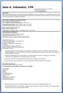 Exles Of Objective In A Resume by Sle Lpn Resume Objective Resume Downloads
