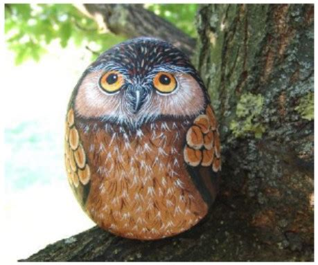 watercolor owl tutorial how to paint an owl on rock rock painting pdf tutorial in