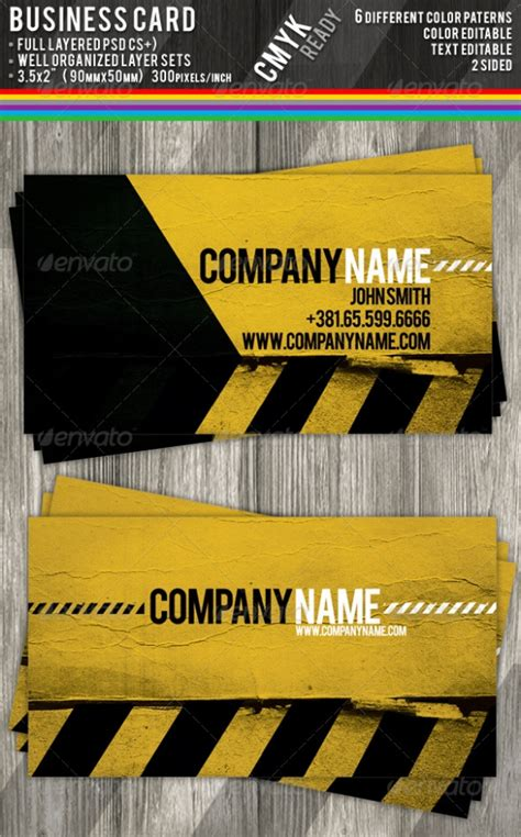 construction business cards templates free cardview net business card visit card design
