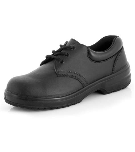 lace up black safety shoes