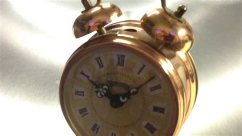 bulova copper wind  alarm clock     future