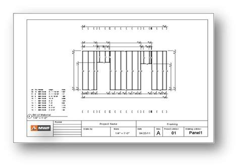 Shop drawing light gauge steel framing in Revit using MWF