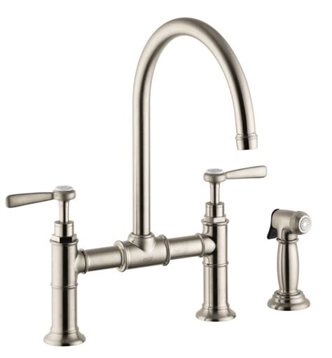 hansgrohe kitchen faucet replacement parts faucet com 16818821 in brushed nickel by hansgrohe