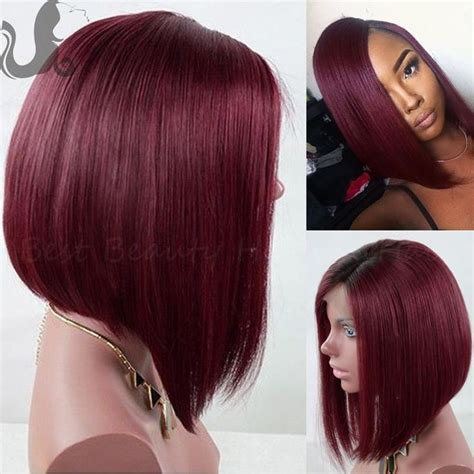 red weave bob two tone1b 99j red ombre full lace bob wig bleached knots