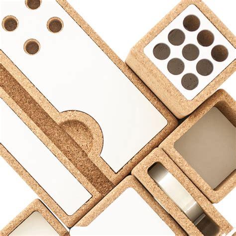 aluminum desk accessories desk accessories made of cork and aluminum design milk