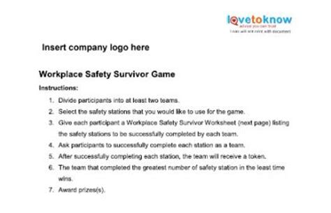 printable games for the workplace safety games for the workplace lovetoknow