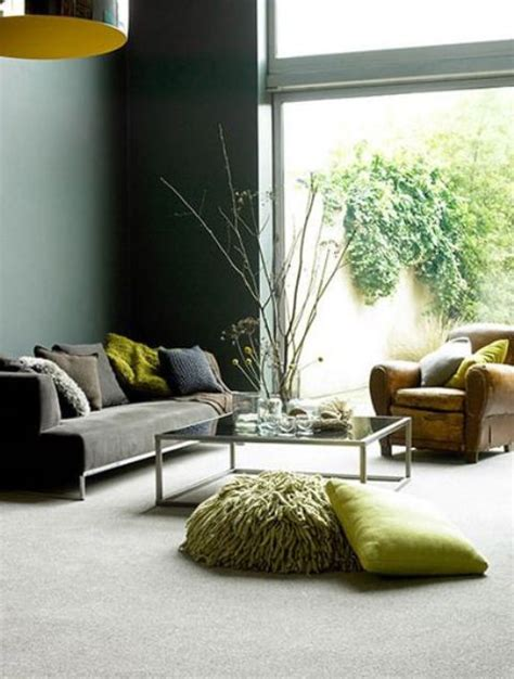 modern grey living room with pops of green happy wife 30 green and grey living room d 233 cor ideas digsdigs