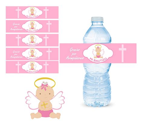 impresion de etiquetas para botellas de agua mi bautizo etiquetas para botellas de agua