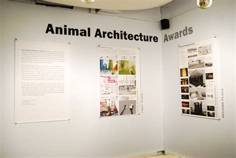 animal architecture awards announced the expanded environment 2011 an arch awards exhibition opening the expanded environment