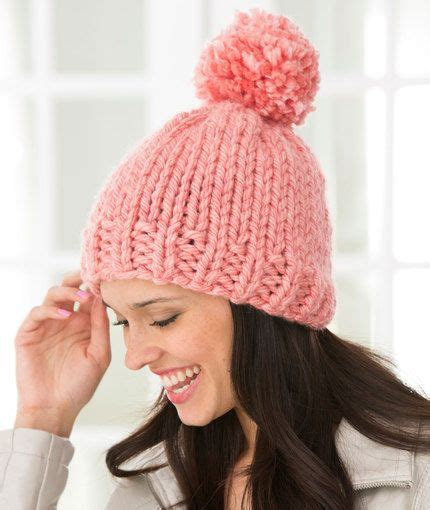fashion forward knit hat free pattern from red heart yarns 1000 images about chunky knit free patterns on pinterest
