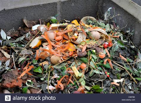 Waste Materials In Kitchen by Garden Compost Heap With Plant Material And Kitchen Waste