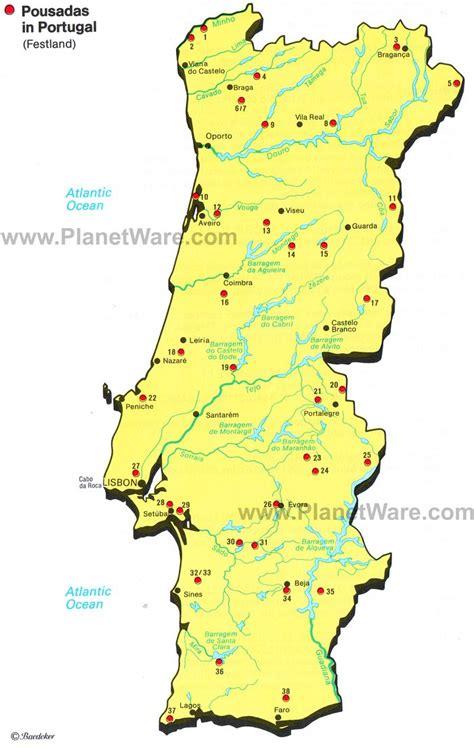 portugal pousadas map map of portugal planetware