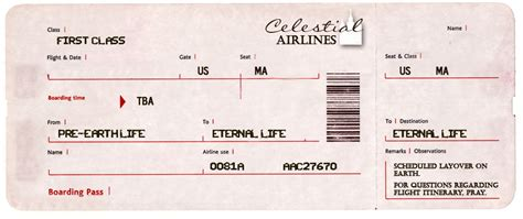 Search Results For Blank Airline Ticket Template