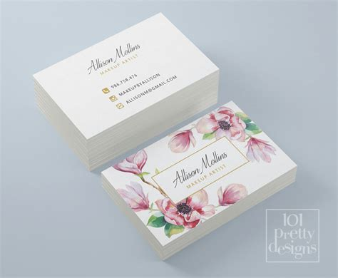 Flower Business Card Template by Floral Business Card Design Flowers Business Card Template