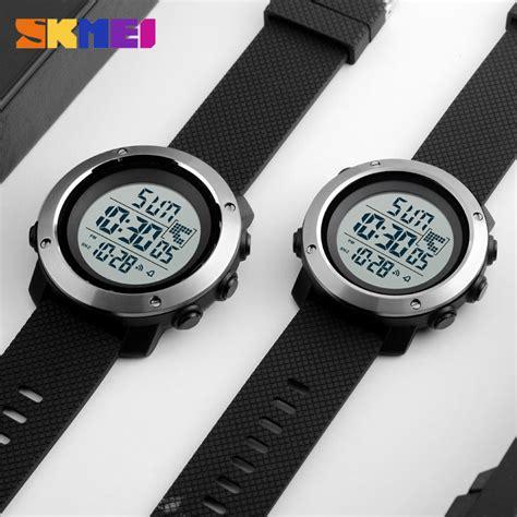 Jam Tangan Pria Jam Digital skmei jam tangan digital pria size big dg1267 black