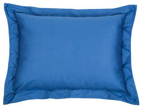 Blue Pillow Sham solid blue sham pillow 20 quot x26 quot contemporary