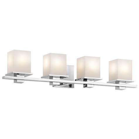 chrome 4 light bathroom fixture kichler 45152ch tully contemporary chrome finish 6 5 quot tall