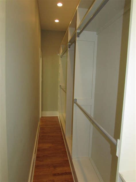 narrow quot walk through quot closet built in closets cupboards