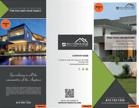 realtor brochure template real estate brochures realty