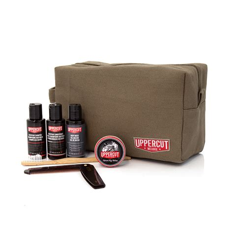 Pomade Custome Mini filled wash bag green uppercut deluxe