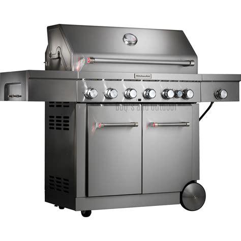 Kitchenaid Grill Gas Conversion Kitchenaid 6 Burner Trolley Bbq 720 0856gh