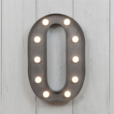 vegas metal led circus letter light o by all things