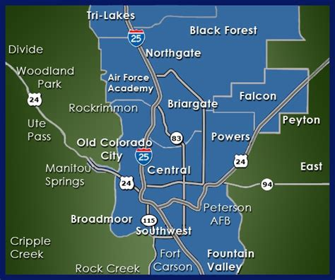 colorado springs subdivisions map search results for colorado springs zip code map