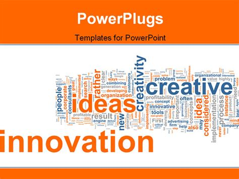 Powerpoint Template Business Background With Keywords As Innovation Idea Creative Corporate Innovative Powerpoint Templates