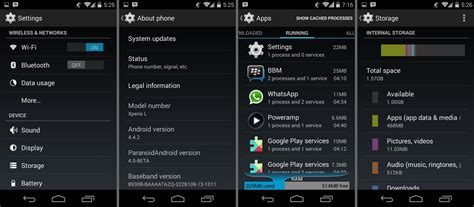 now with android 44 aokp paranoid android roms and get android 4 4 kitkat update for sony xperia l via aospa