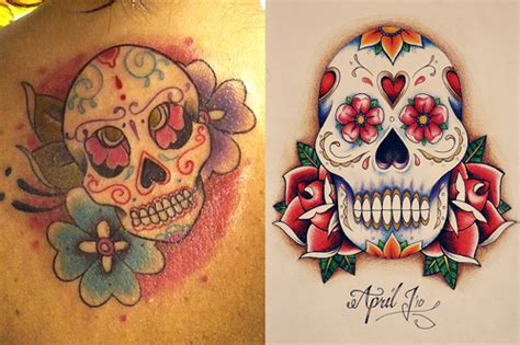 cute sugar skull tattoo designs sugar skull tattoos designs ideas meaning of sugar