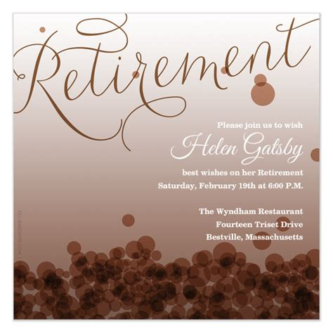 retirement flyer template 7 best images of free printable retirement templates