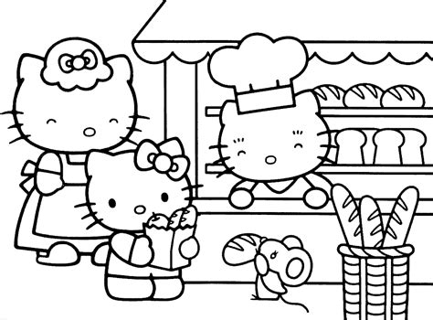 hello kitty and friends coloring pages az coloring pages