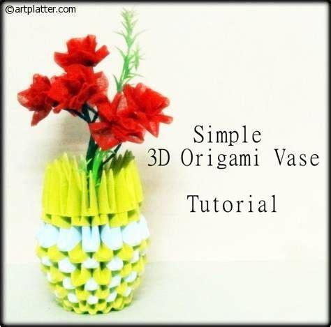 3d Origami Vase Tutorial - 24 best papercraft images on paper