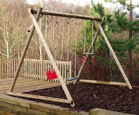 triple swing triple swing frame wooden garden products from caledonia